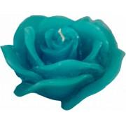 Lumanare Decorativa Trandafir din Safir Albastru parfum de Lavanda