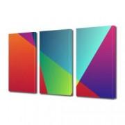 Tablou Canvas Premium Abstract Multicolor Geometric Colorat Decoratiuni Moderne pentru Casa 3 x 70 x 100 cm