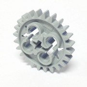 Lego Parts: Technic, Gear 24 Tooth (Old Style with Three Axle Holes) (Old Light Gray)