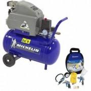 Compresor de aer monofazat profesional MICHELIN MB24 rezervor 25l 170 lmin 1 5kW + Kit 7 Piese aer comprimat