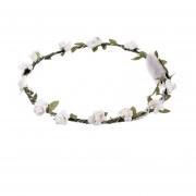 Luz LED Flora Corona Floral mujeres cabezadas resplandeciente Diadema Flor de fiesta Blanco