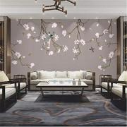 Pbldb Nuevo Estilo Chino Pintado A Mano Pájaro De Magnolia Junto A La Cama Dormitorio Pared Grande Personalizado Mural Papel Tapiz Mural-120X100Cm