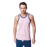 4-rth Light Weight Transition Striped Yoga Tank Top T Shirt Pink/Grey