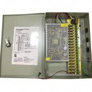 Sursa alimentare in cutie metalica 12V-20A 18 iesiri