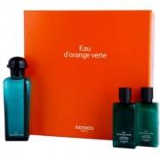 Hermès Eau d'Orange Verte coffret III. Eau de Cologne 100 ml + leite corporal 40 ml + champô 40 ml