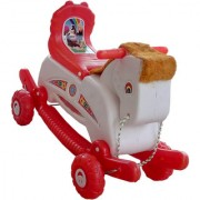 Oh Baby Multi color Rocking Plastic Horse With Wheel SE-RT-33
