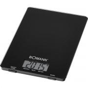 Bomann KW 1515 - Báscula de cocina digital, 5 kg, pasos 1 g, función tara, color negra