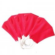 MASQUES DIRECT 5 Masques pour enfants ergonomiques en tissu lavable rouge