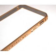 Метален бъмпер Циркони за Apple iPhone 5/5S Златист