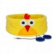 Žlutá dětská čelenka se sluchátky - Kuřátko