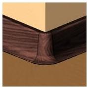 PBE605.141-S4 - Set 4 bucati piese colt exterior culoare mahon inchis pentru plinta PBC605