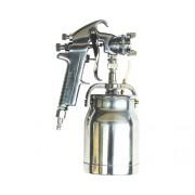 Pistol profesional de vopsit cu pulverizare Mecafer 1L Ø1,8mm cu vas inferior