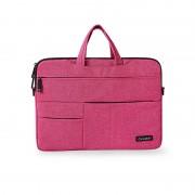 Multi-functional Splash-proof Oxford Pouch Shoulder Bag for 13.3-inch Laptop - Rose