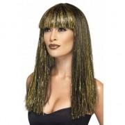 Smiffys Cleopatra pruik zwart/goud