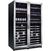 Vitrina de vinuri Nevada Concept NW292Q-SSL, 292 sticle, 4 zone, inox/negru