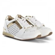 Michael Kors Perforated Zia Allie Say Laced Sneakers Vit/Guld Barnskor 32 (UK 13)