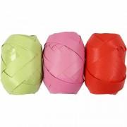 Vivi Gade Presentband, B: 10 mm, 3x10 m, lime, rosa, röd