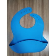 Silicone Slabbetje - Slabbetje silicone donkerblauw - slabber - waterdichte baby slabbetjes - slabben - zachte slab met opvangbakje - Unisex slabbers