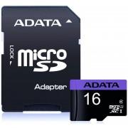 Memoria Micro SD 16GB ADATA Clase 10 Video Full HD AUSDH16GUICL10-RA1