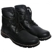 Sapience Men's Casual Lace-Up Boots (Black)