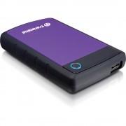 """Transcend Storejet HDD Extern 2TB 2.5"""" USB 3.0 Sistem cu Tripla Protectie la Soc Negru/Mov"""