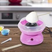 HomCom Máquina Profissional Algodão Doce Cor-de-Rosa Aço Inox. 27x26x18 cm