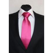 Pánská tmavě růžová klasická kravata - 8 cm