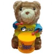 Windup Teddy Bear Drummer Sound Toy for Kids