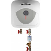 Pachet Boiler electric Ariston Andris RS 30 EU 30 l 1500 W Led iluminat Protectie electrica IPX1 Montare deasupra chiuvetei Reglaj extern