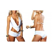 Groupon Goods Ensemble top avec short sexy Madison : 3 ensembles / Blanc