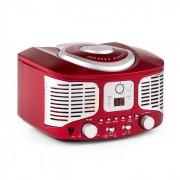 Auna RCD320 Reproductor de CD retro FM AUX Rojo (MISM1-RCD320 RED)
