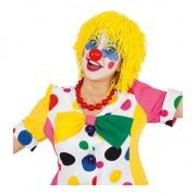 Geen Wollen clown pruiken geel