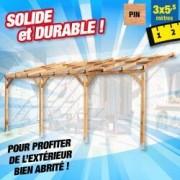 OUTIROR Toit terrasse bois 3x5,5 m