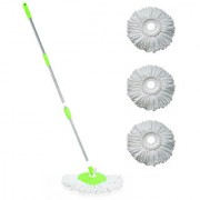 Universal Home Cleaning Spin Mop-Green With 4 Refill