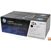 HP 12A Dual Pack Black Toner Cartridge(TWIN PACK)