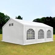 Intent24.fr Tente de réception 4x6m PE 300 g/m² blanc imperméable barnum, chapiteau