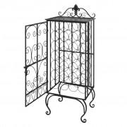 vidaXL Metal Wine Cabinet Rack Stand for 28 Bottles