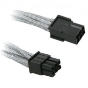 Cablu prelungitor BitFenix Alchemy 6-pini PCIe, 45cm, silver/black, BFA-MSC-6PEG45SK-RP