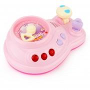Brettbble Cartoon Bebé Niño Educación Temprana Música Auto Consola Juguetes Con Luz LED (rosa)