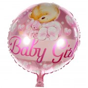 Balon folie roz Baby Girl