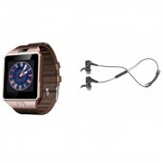 Zemini DZ09 Smart Watch and Reflect Earphone for SAMSUNG GALAXY NOTE 5(DZ09 Smart Watch With 4G Sim Card Memory Card| Reflect Earphone)