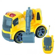 Bid Buy Direct Remote Controlled Construction Toy Trucks with Lights & Sounds - Full Direction Movement Rc (Digger Truck)