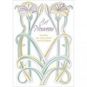 Art Nouveau. Carte de colorat antistres
