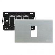Bticino Supporto E Placca 1 Modulo Per Scatole Rettangolari Magic Argento S503/11Xs