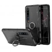 Drop-proof Kickstand Metal Silicone Combo Case for Xiaomi Mi 10 - Black