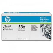 HP LaserJet Q7553X Dual Pack Black Print Cartridge - Q7553XD