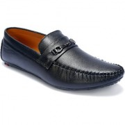 Shoebook Men's Black Loafer Shoes