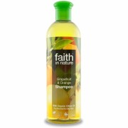 Sampon cu grapefruit si portocale, pt. par normal sau gras, Faith in Nature, 400 ml
