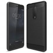 Nokia 5 Brushed TPU Case - Carbon Fiber - Black