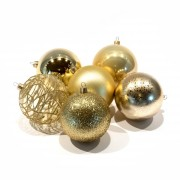 Decorazioni natalizie dorate - diametro 8 cm